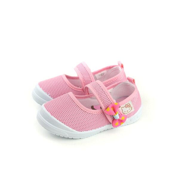 HelloKitty凱蒂貓娃娃鞋網布粉紅中童童鞋718622no758