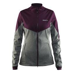 【速捷戶外】瑞典Craft 1903578 Soft shell保暖外套(女)-灰/紫, 滑雪 跑步 路跑 野跑 馬拉松 夜跑