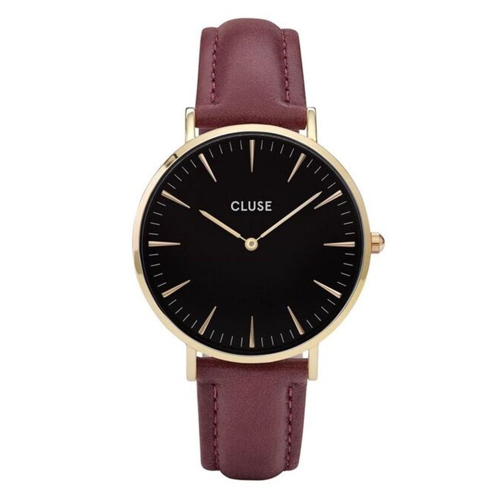 【錶飾精品】CLUSE手錶 CL18412 金黑色/紫紅色38mm荷蘭優雅極簡腕錶 現貨 全新原廠正品 生日情人禮物