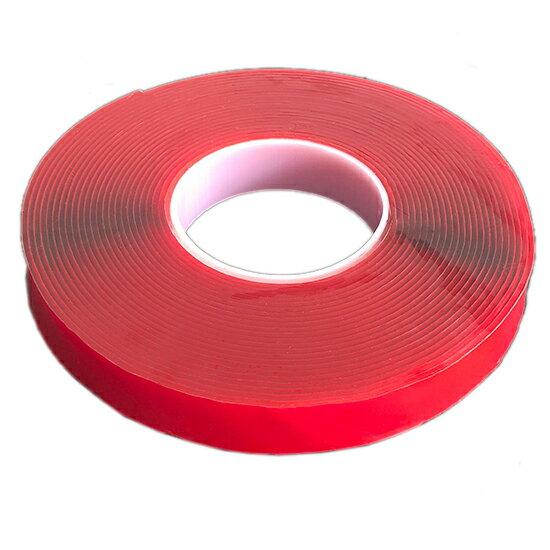 透明壓克力雙面膠(10mm)  強力 防水 車用 耐高溫 不殘膠 居家  超黏 掛架 海報 紅膜透明 萬能貼 ♚MY COLOR♚【P176】