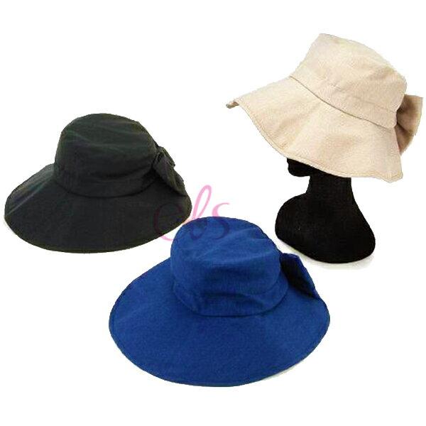 日本SHF優雅蝴蝶結女優帽抗UV帽遮陽帽三色供選☆艾莉莎ELS☆