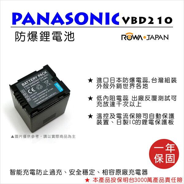 攝彩@樂華FOR國際牌VBD210DU21相機電池鋰電池防爆原廠充電器可充保固一年
