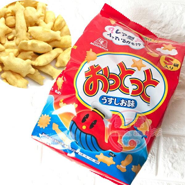 日本森永薄鹽味餅乾小魚餅乾(整袋5小包入)[JP689]
