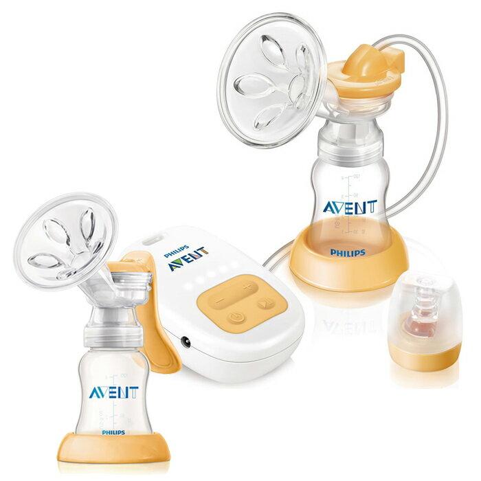 *限量特賣* Philips Avent 新安怡 - 標準口徑PP單邊電動吸乳器 加贈 Avent手動吸乳器(E65A308063)