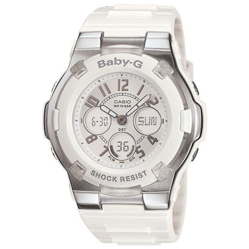 Casio BGA110-7B Women's Baby-G Slim Marine Series White Resin Watch