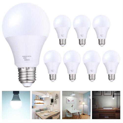 Set of 8pcs LED Light Bulb 85-265V 1080LM E27 Lighting Home Office 12W Cool White 0