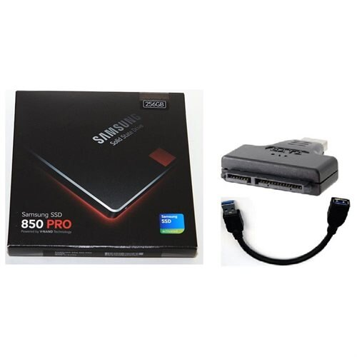 "Samsung SSD 850 Pro 256GB 256G SATA III 2.5"" 3D V-NAND Internal Solid State Drive MZ-7KE256BW + USB 3.0 Adapter and Cable 0"