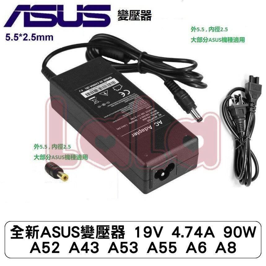 全新ASUS變壓器 19V 4.74A 90W A52 A43 A53 A55 A6 A8 pro88 pro880Q U41J