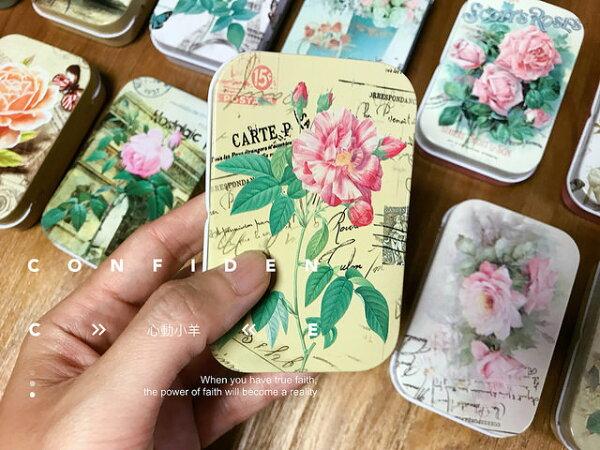 心動小羊^^長方形唯美與碎花玫瑰可任選可當名片盒、香菸盒、糖果盒、小物收納、婚禮小物