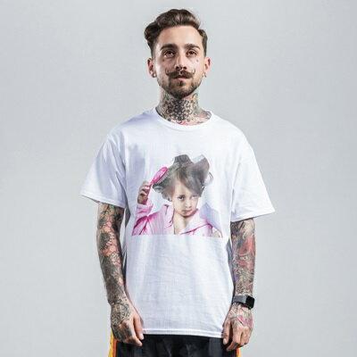 短袖T恤休閒上衣-可愛女孩純色棉質男裝2色73qx61【獨家進口】【米蘭精品】 2