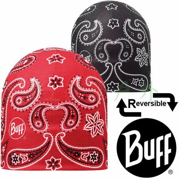 【【蘋果戶外】】BF108910西班牙BUFF雙面彈性保暖帽變形蟲紅黑快乾帽防寒帽