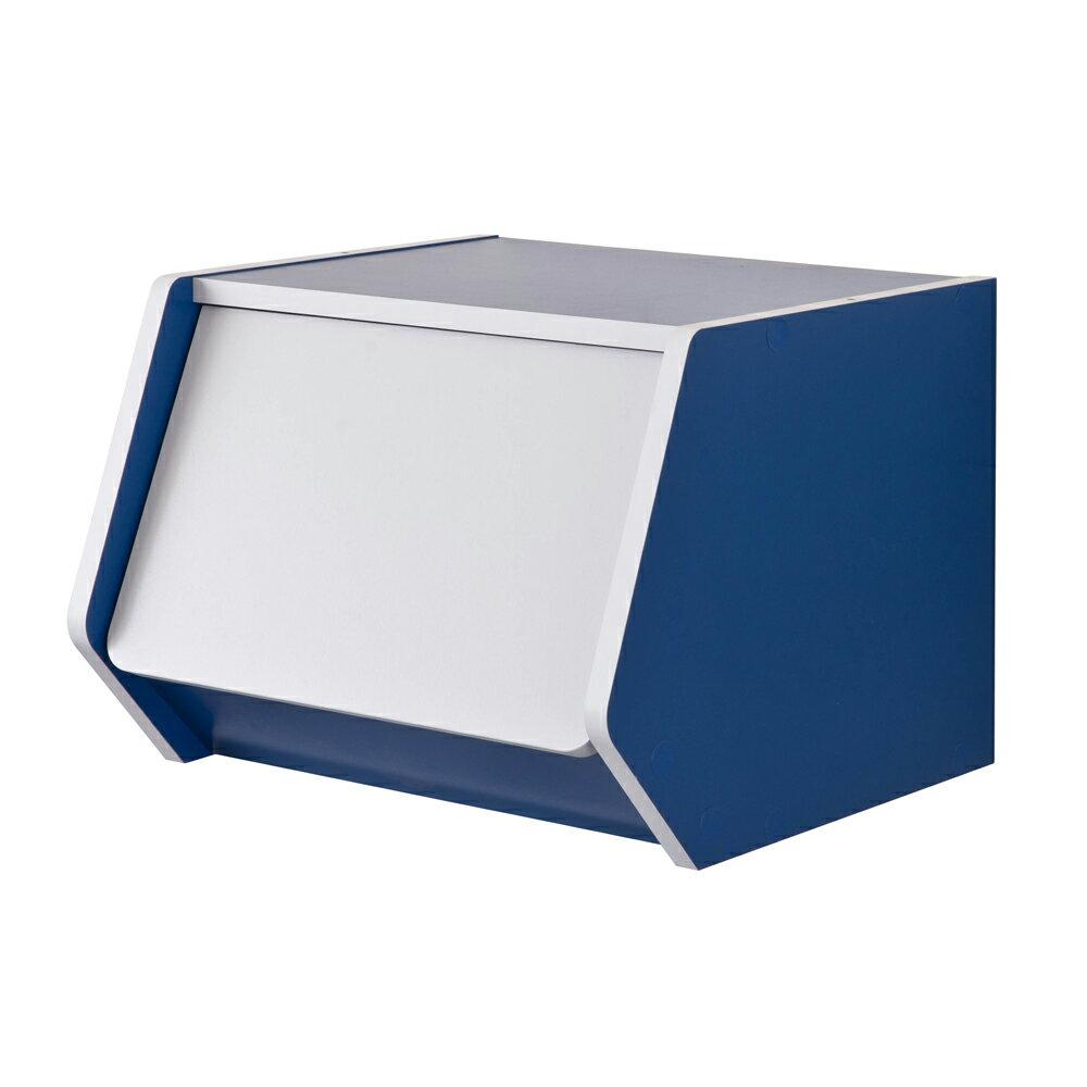 門櫃 / 書櫃 / 整理櫃 TZUMii 艾莉絲掀門櫃-藍色 1