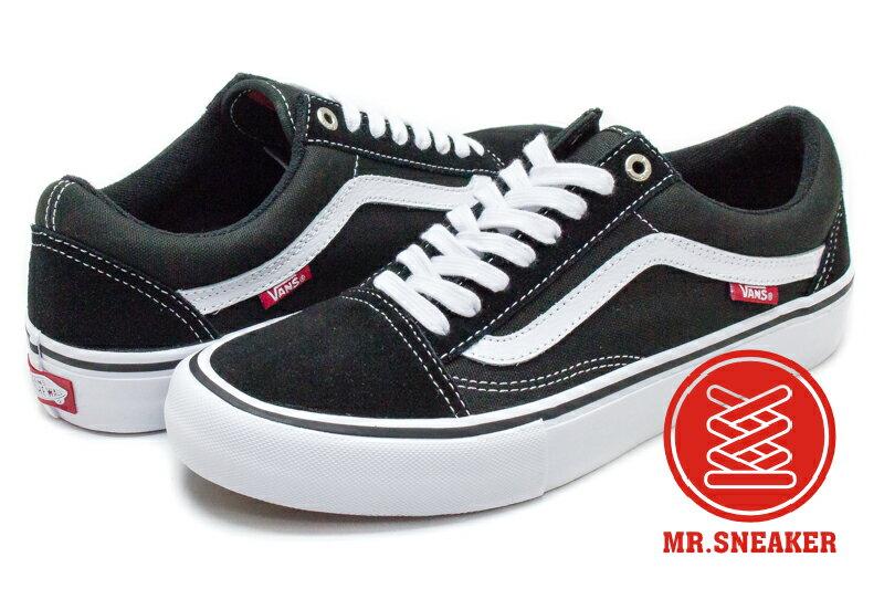 ☆Mr.Sneaker☆ VANS Old Skool Pro 72020503 專業滑板鞋 黑白色 男女段