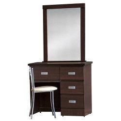 美滿2.7尺胡桃化妝鏡台組(含椅) / H&D