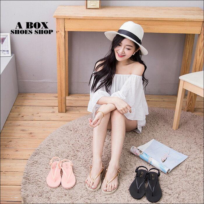 格子舖*【AW9028】MIT台灣製 簡約防水素面PVC橡膠材質 人字夾腳涼鞋拖鞋 海灘涼鞋 3色 1