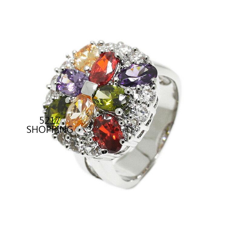 流行時尚鋯石戒指 宴會 派對 生日禮物 情人節禮物 5217SHOPPING R21