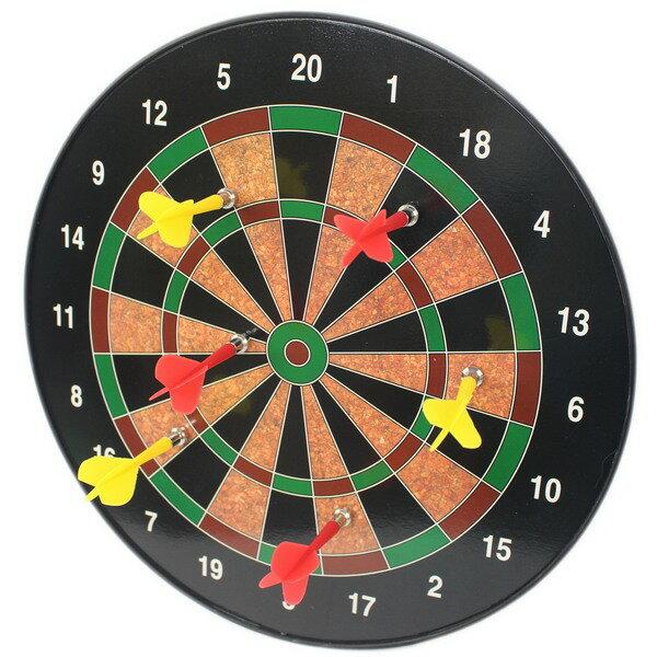 磁性飛鏢靶 磁鐵鏢針附6支 直徑34.5cm / 一個入(促450) 安全飛鏢盤 磁鐵飛鏢靶 磁鐵飛標盤-CF15162 2