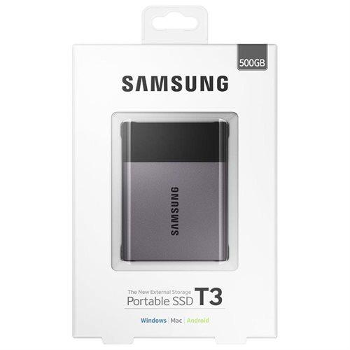"Samsung T3 Portable 500GB SSD 500G USB 3.1 External Solid State Drive MU-PT500B + 2.5"" SSD case 1"