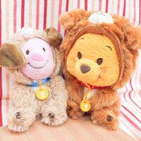 小熊維尼周邊商品推薦PGS7 日本迪士尼系列商品 - [日本限定] 迪士尼 小熊維尼 Winnie 狗年 造型 幸運 娃娃 玩偶【SKD71690】