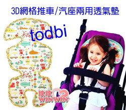 韓國 TODBI 3D網格推車汽座兩用透氣墊 「淘氣城堡 / 歡樂ABC」 二色可選