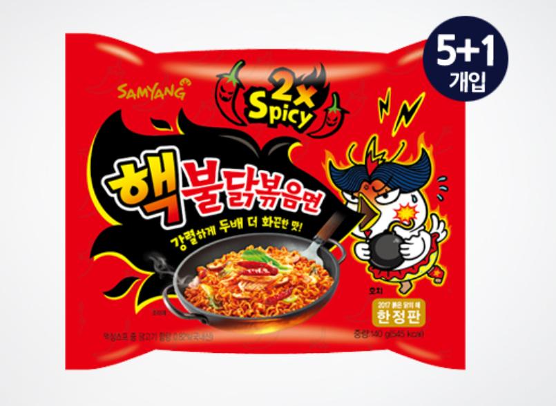 三養 極地火辣雞肉風味乾燒拉麵 140g×6包