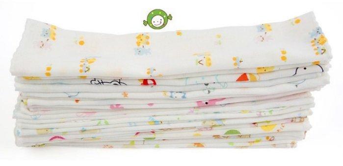 西松屋純棉紗布巾/手帕 10條一組(包) 31cm*31cm 純棉餵奶巾 口水巾 紗布巾