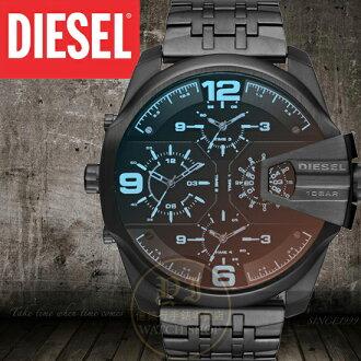 DIESEL國際品牌ONLY THE BRAVE霸氣多國時區腕錶DZ7373公司貨/另類設計/禮物
