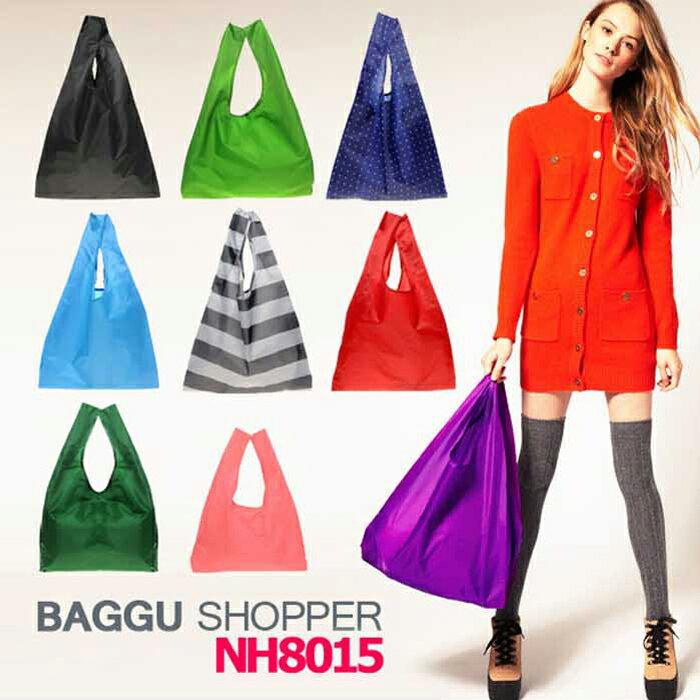 Anne  Alice包包購^~日式baggu糖果色折疊 袋手提袋~純色款^~