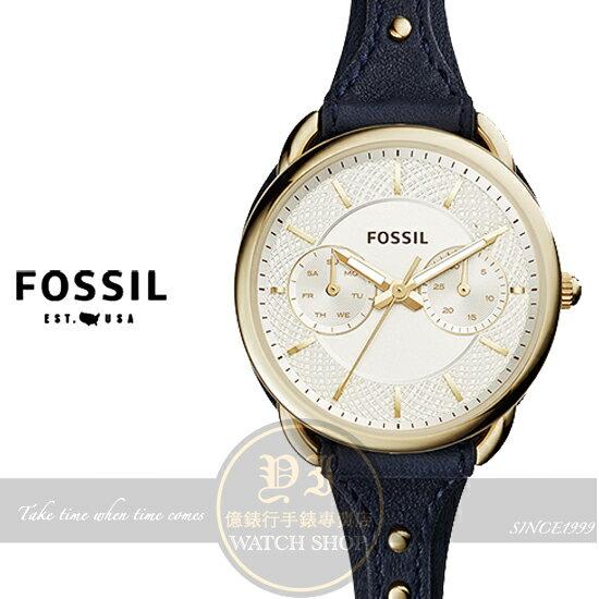 FOSSIL美國品牌TAILOR復古女孩日曆 腕錶ES4051 貨