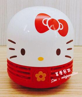 【真愛日本】16082700010桌上吸塵器-KT大臉紅  三麗鷗 Hello Kitty 凱蒂貓  吸塵器 清潔 居家用品