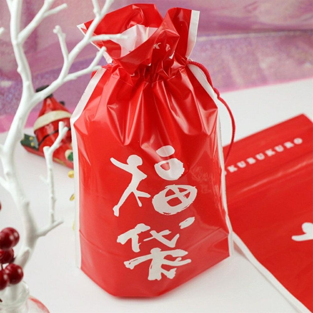 中國風大紅福袋束口袋 禮物袋 收納袋【BlueCat】【NY0040】