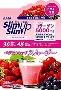 朝日AsahiSlimupSlim綜合莓果口味沖泡代餐飲300g-一九九六的夏天