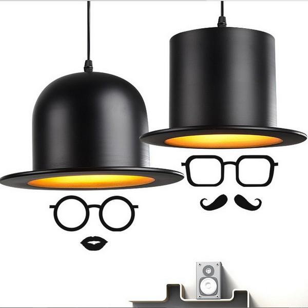 【威森家居】北歐 紳士帽吊燈 現貨原木工業風現代簡約復古吸頂燈吊燈壁燈大廳客廳臥室陽台燈具LED設計師 L170339