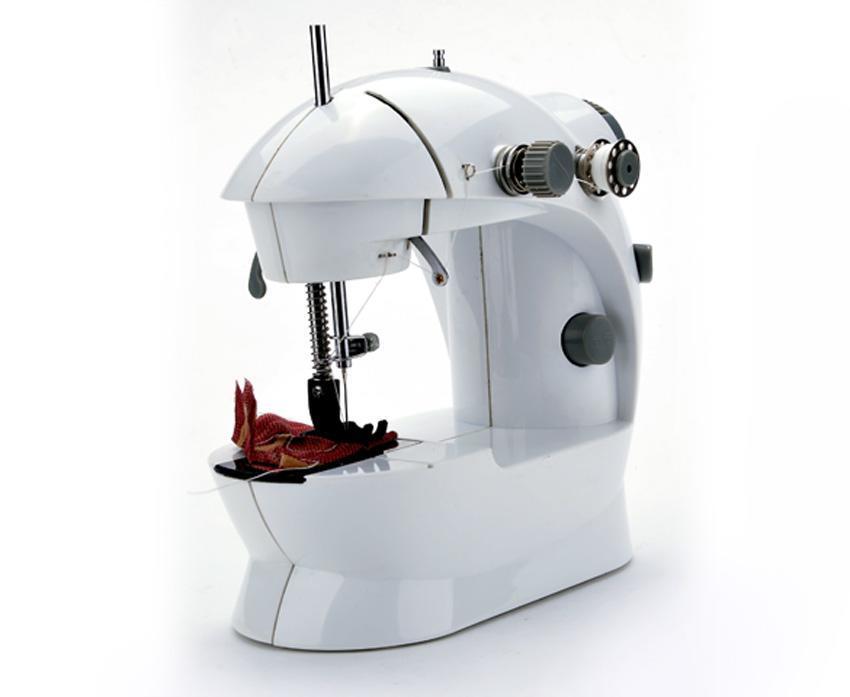 Portable Mini Handheld Electric Sew 2-Speed Sewing Machine Battery/Mains Powered  Bobbins 1