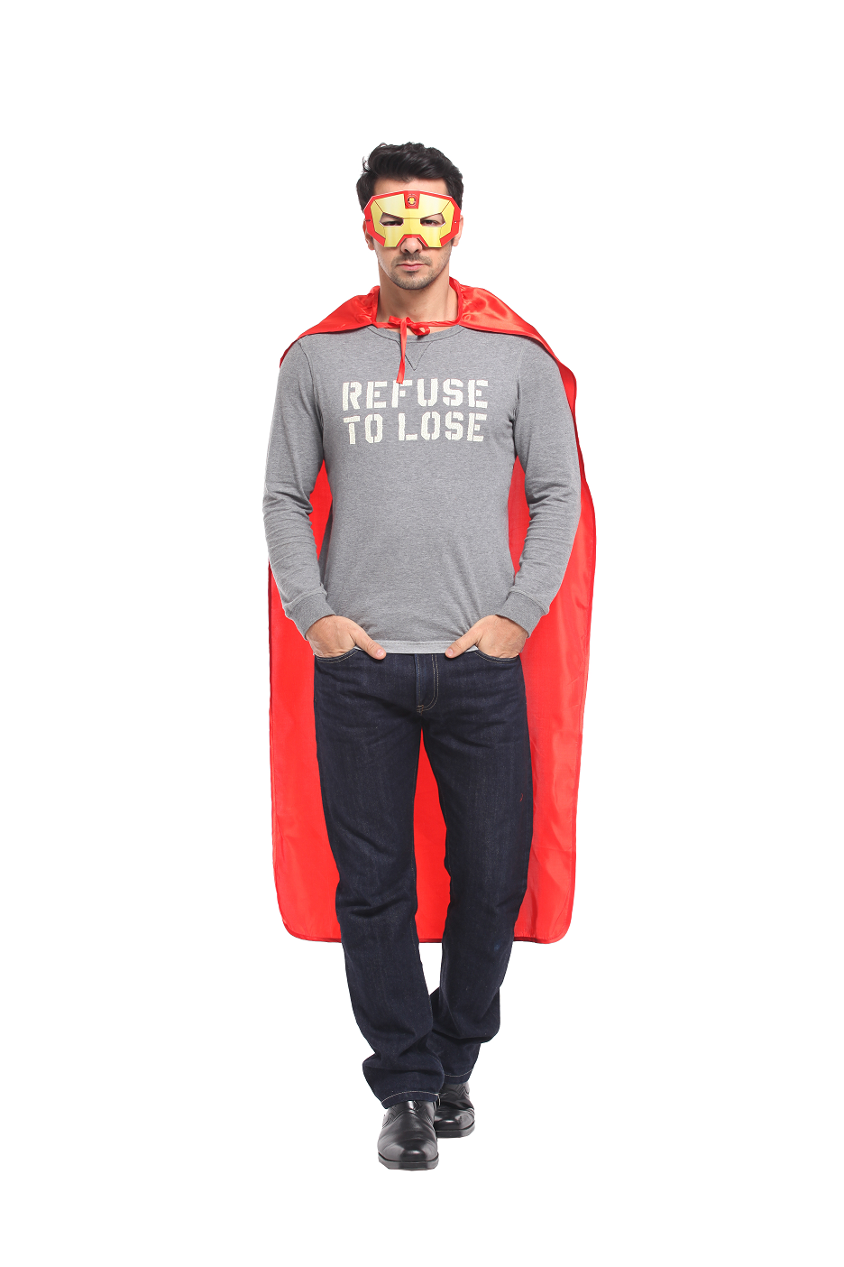 X射線【W276015】50鋼鐵英雄眼罩披風組,鋼鐵人/披風/萬聖節/化妝舞會/派對道具/變裝/表演/復仇者聯盟/cosplay/漫威/英雄