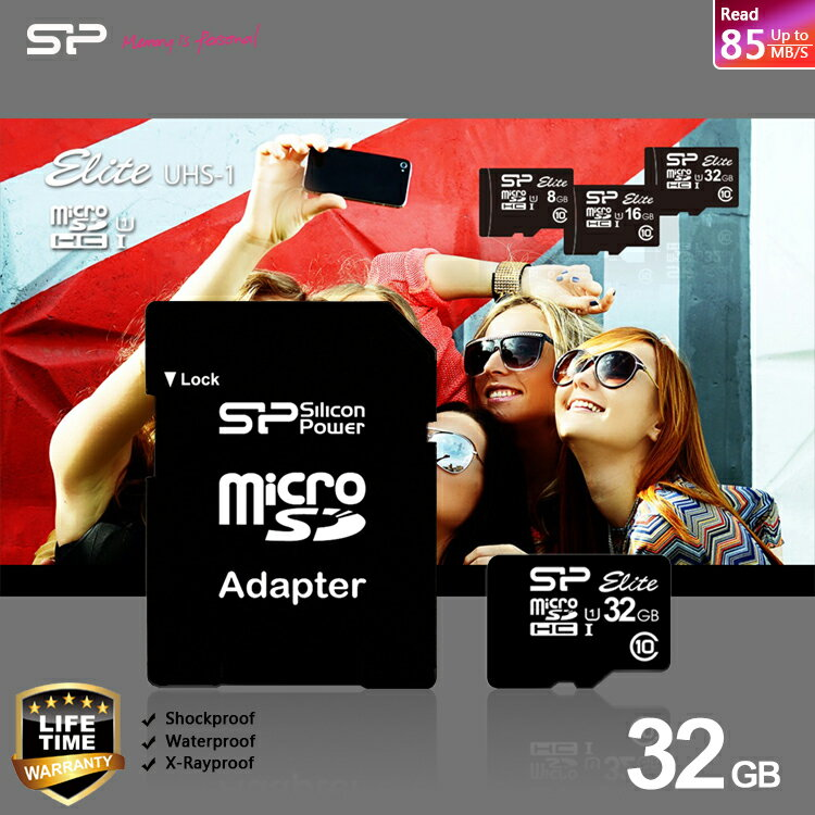 SP/Silicon Power 廣穎 Micro SD/MicroSD/UHS-I/T-Flash 32G/TF 32GB/32G CLASS10/SDHC 記憶卡/附SD轉卡