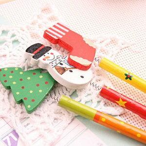 美麗大街【BF215E11E830】聖誕節系列搖頭鉛筆(一包6入不挑款)