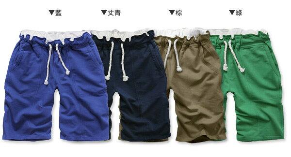 ☆BOY-2☆【NZB013】情侶運動短褲韓版簡約素面多色百搭休閒伸縮抽繩棉質短褲 3