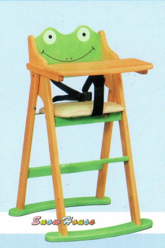 ╭☆雪之屋居家生活館☆╯AA633-15兒童餐椅 / 造形寶寶椅/寶寶用餐椅/寶寶折合餐椅/可愛青蛙餐椅