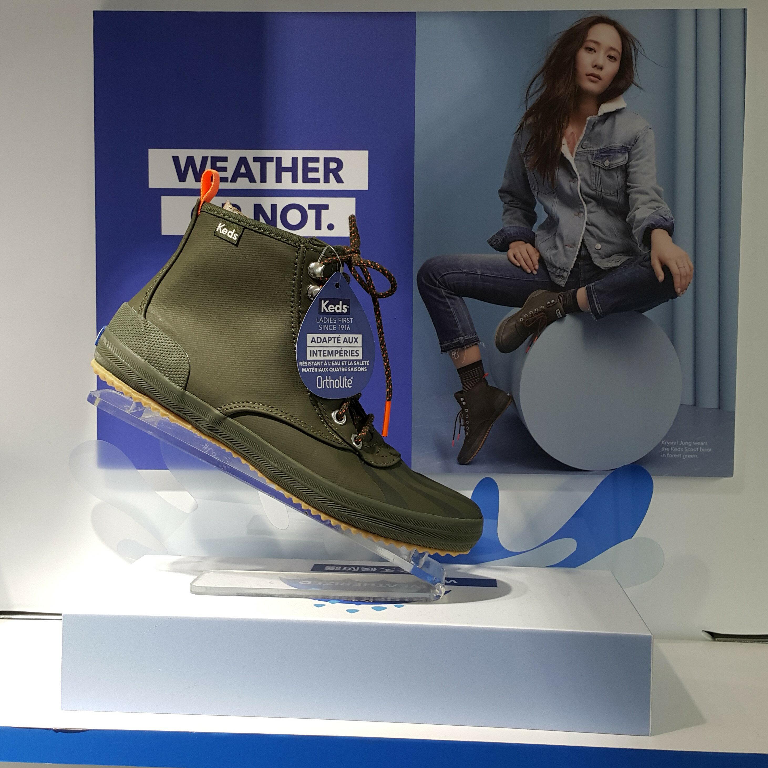 Keds SCOUT 雨靴 雨鞋 軍靴 靴款 高筒 防水 防潑水 綠色 軍綠色 Krystal 鄭秀晶 限時贈送Keds購物袋 送完為止