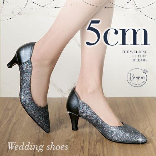 BONJOUR☆軟綿綿5cm好走氣墊尖頭高跟鞋Wedding shoes【ZB0310-5】7色 0