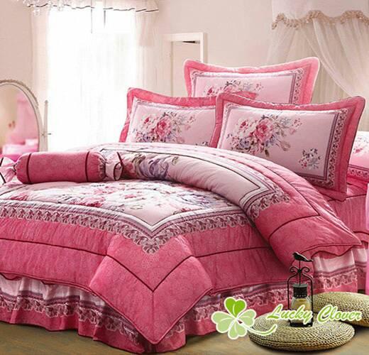 [床工坊-相約花季] 100%高級精梳棉八件式床罩 - 限時優惠好康折扣