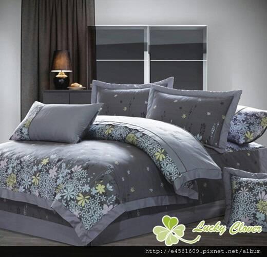 [床工坊-月影相逢] 100%高級精梳棉八件式床罩 - 限時優惠好康折扣