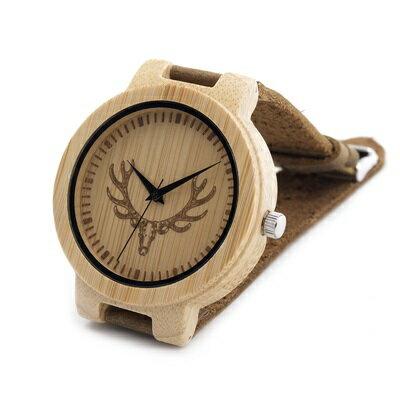 ★木製石英錶男女手錶-真皮錶帶簡約設計情侶款腕錶3款73pp334【獨家進口】【米蘭精品】 2
