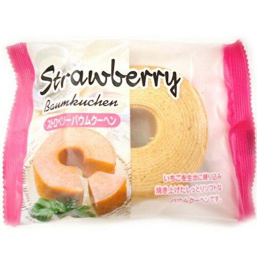 迷你牛奶年輪蛋糕-草莓味 1個入(85g)