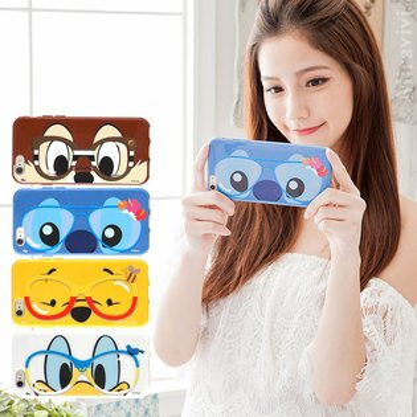 【Disney】iPhone66s時尚眼鏡款保護套