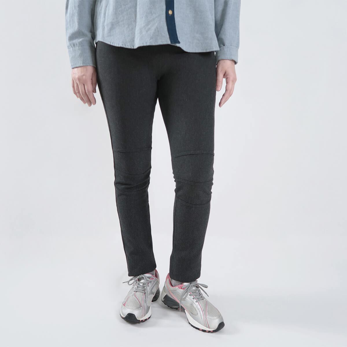 超保暖刷毛內搭褲 台灣製內搭褲 超彈力內搭褲 精絲保暖褲 修身顯瘦長褲 內裡刷毛 全腰圍配色寬版鬆緊帶 黑色長褲 MADE IN TAIWAN WARM PANTS FLEECE LINED LEGGINGS (012-6100-21)黑色、(012-6100-22)深灰色 腰圍M L XL(26~31英吋) 女 [實體店面保障] sun-e 3
