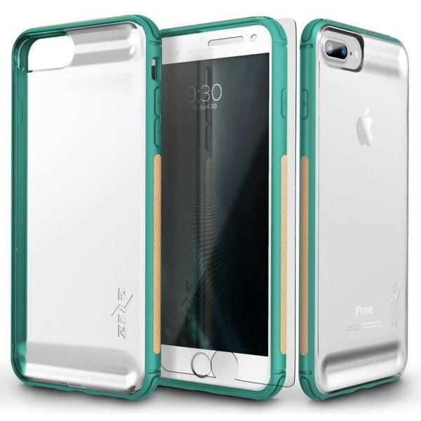 貝殼嚴選:【貝殼】ZizoBoltFLUX系列iPhone8PlusiPhone7Plus手機殼防摔殼(贈非滿版玻璃貼)-綠色