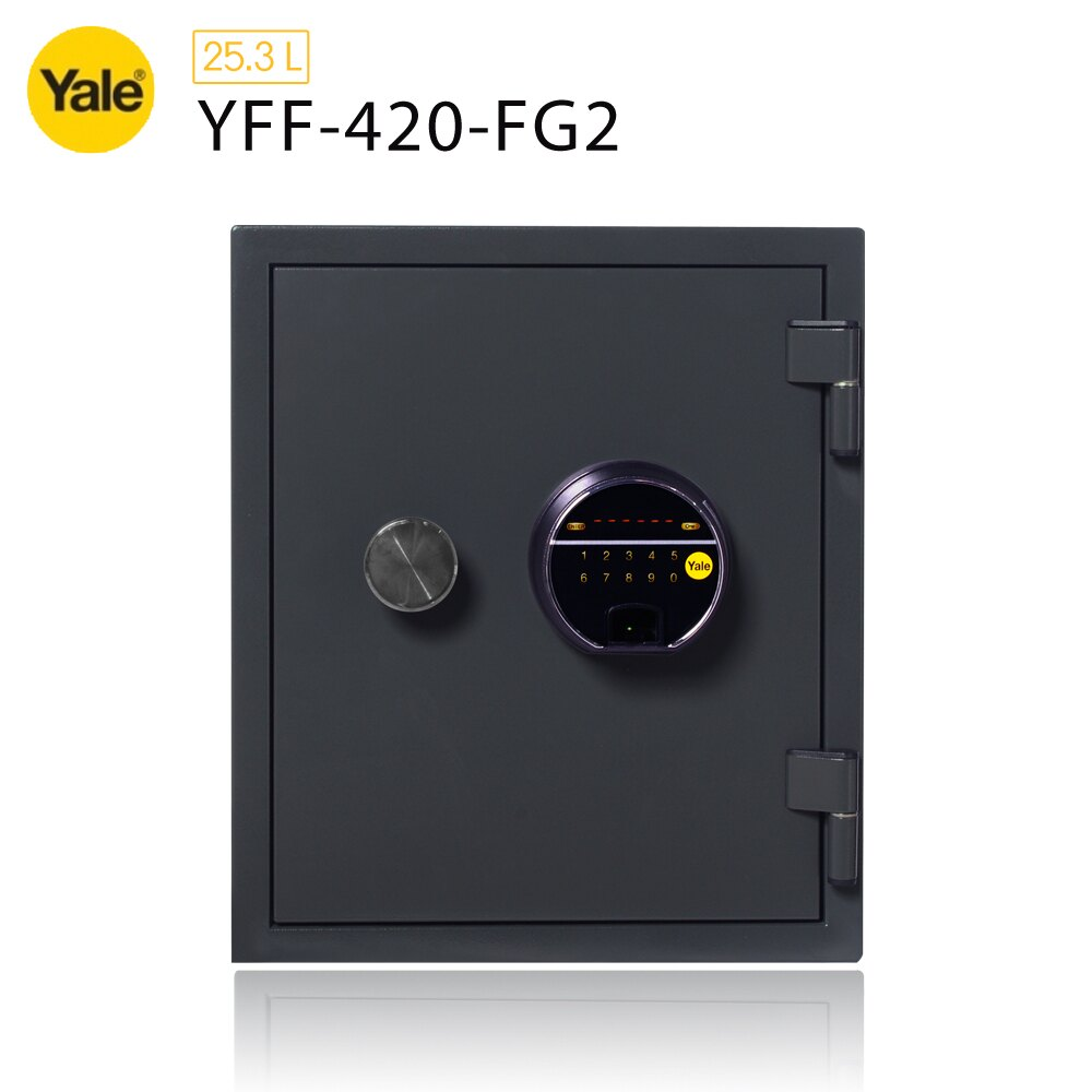 【耶魯 Yale】指紋密碼觸控防火款保險箱/櫃_(YFF-420-FG2)