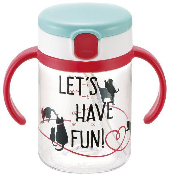 【淘氣寶寶】《日本 Richell 利其爾》第三代LC戶外吸管水杯200ml【貓物語】